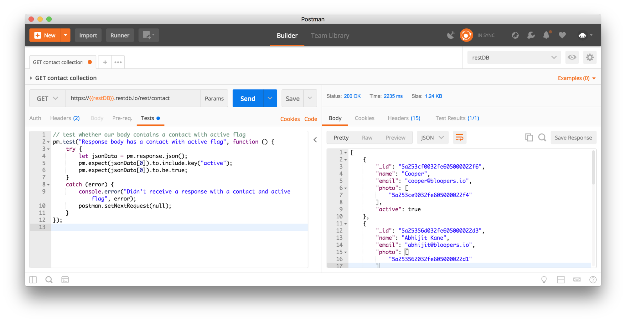 Read and write to REST-enabled databases - Postman Blog