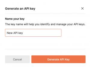 Generate a Postman API Key